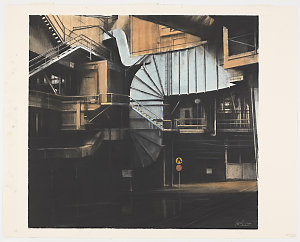 Ducts Under No.3 Blast Furnace, 2000  / drawing by Jeff Rigby