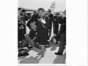 Australian Olympic Team leaves for Rome on a Qantas 707 flight, Mascot