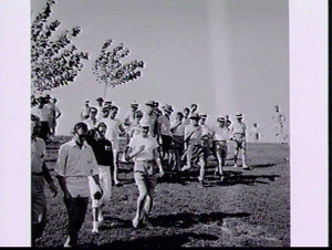 Australian Team in the heat after team marching practice, Rome Olympic Games 1960