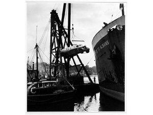 Item 15: Unloading aircraft refueller for Caltex Oil (Australia), 1950 / photographer Max Dupain
