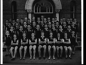 Athletics team photograph, St. Patrick's College, Strathfield, 1957