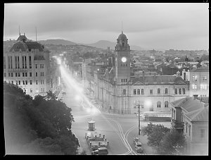 File 11: Hobart by night, 1946 / photographed by Max Dupain