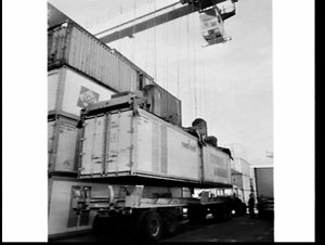 Container movement at the terminal, White Bay
