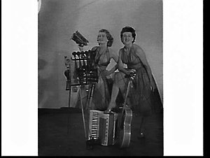 Mary and Rita Schneider, country and western singers and comedians