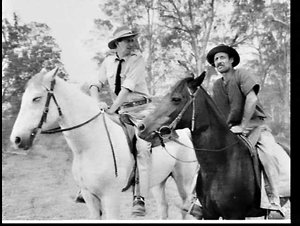 """Production of the 1958 Anthony Kimmins-Canberra Films' feature film """"Smiley gets a gun"""" in the Pagewood Studios and on location at Camden and Scone"""