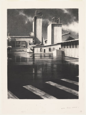 Wet Tar, Pasminco, Broken Hill, 2005 / drawing by Jeff Rigby