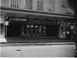 The Century Theatre advertising the film Woman obsesseed