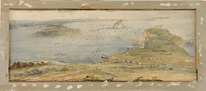 Item 02: The Coal River or Port of Newcastle New South Wales ... / watercolour drawing possibly by John William Lewin