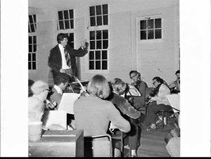 Waverley Philharmonic Society (orchestra, choir and soloists) rehearse, St. Anne's Hall, Bondi