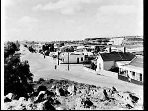 Residential street in Broken Hill