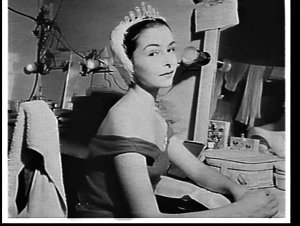 Lynn Seymour, Royal Ballet, dressed for Swan Lake in her dressing room at the Empire Theatre, Sydney