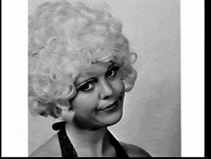 APA studio portrait of comedian Carol Adams' character portrayal of Abigail (?)