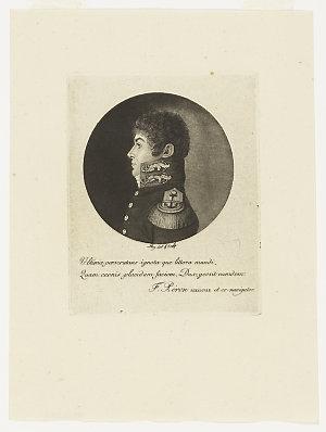 [Engraved portrait of Louis Claude de Saulces de Freycinet, ca 1804-1810] / Sebastian Leroy