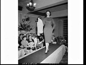 Adelyn Garments' fashion parade for 1957 at the Carlton Hotel