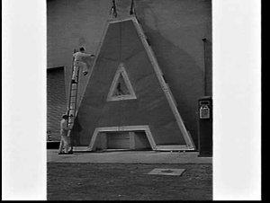 "Six metre high letter ""A"" from an illuminated Caltex sign"