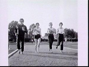Pat Duggan, Dixie Willis, Gloria Cooke-Wigney and Marlene Mathews train, Stadium Flaminio, Rome Olympic Games 1960
