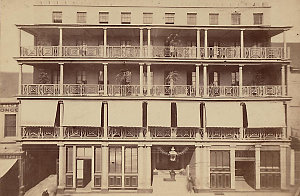 [Royal Hotel, George Street, Sydney, ca. 1870s / attributed to the American & Australasian Photographic Company]