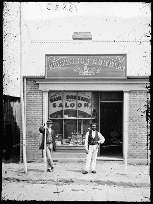"""""""Professor"""" Curtain's Barber's Saloon, Hill End"""
