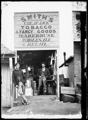 Smith's cheap jack tobacco & fancy goods warehouse, Hill End