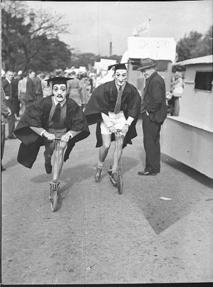 "University Commemoration Day (""Commem"") through streets"