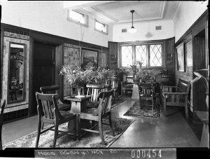 Penfold's Wines display in wine saloon