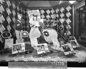 """Window display for """"Strike up the Band"""" (taken for M.G.M.)"""