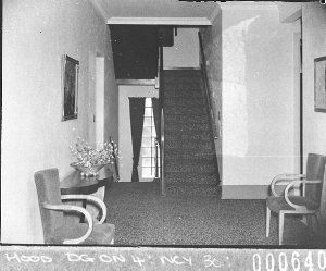 View of the staircase, at the first floor (Hotel Spencer) (taken for BHP, on Adelaide-Whyalla trip)