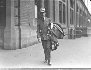 Arrival of Arnold Haskell of the Russian Ballet (taken for J.C. Williamson Ltd)