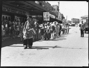 Children's parade, South Kensington Reno (taken for Acme Theatres)
