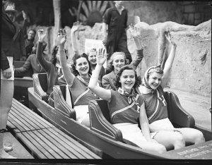 Hollywood Hotel girls at Luna Park (taken for Fuller's Theatres Ltd)