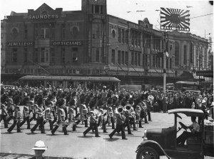 Grenadier Guards Band, Railway Square, Sydney