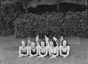 """Vagabond King"" ballet (Audrae Swayn, ballet mistress & soloist) at Mr Hugh Ward's home"