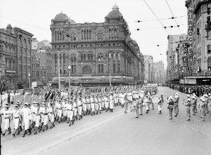 Naval Parade through city