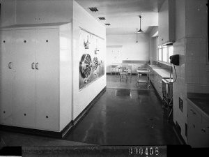 Section of the laundry, Rachel Forster Hospital