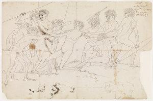 Massacre d'une femme par les sauvages, [ca. 1802-ca. 1804 / drawn by Nicolas-Martin Petit]