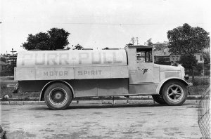 Purr Pull's first petrol tanker truck, a 'White'
