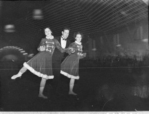Roller skaters at the Palladium