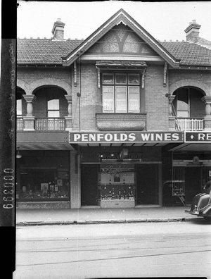 Penfold's Wines display in shop windows in the Mosman Wine Depot window