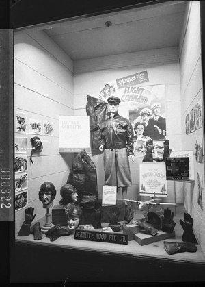 "Movie promotion: ""Flight Command"" in Bennett & Wood's window (taken for M.G.M.)"