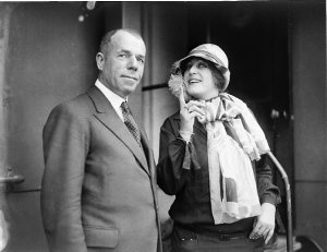 Sir Benjamin Fuller with unidentified visiting Italian opera singer from the Gonsalez Company