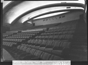 Oblique view of the dress circle, Minerva Theatre (taken for Building Publishing Co)