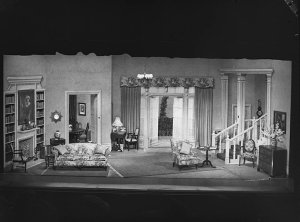 """Stage setting for """"Claudia"""""""
