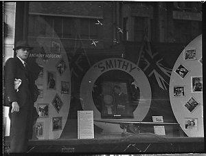 Smithy advertised in Horderns windows