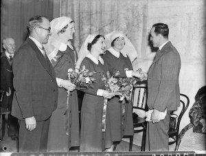 New Zealand nursing sisters farewell, before leaving for Spanish Civil War