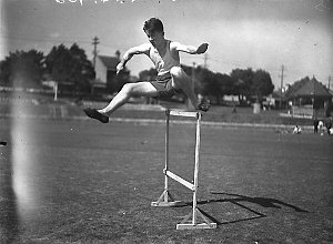 Christian Brothers High School, Lewisham, sports. 110 yards hurdle