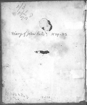 John Betts diary, 12 April 1829-16 August 1833