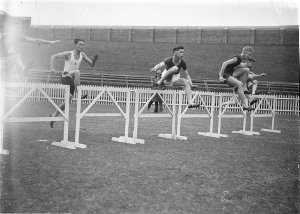 120 yards hurdles event, Combined High School sports