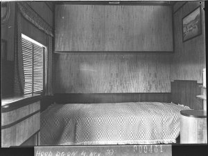 Interior of new railway carriage (A.U.P.) A sleeping compartment