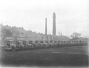 A line up of twenty Dodge and Albion trucks of carrier William McKeown Ltd