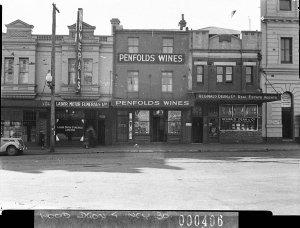 Penfold's Wines display in shop windows